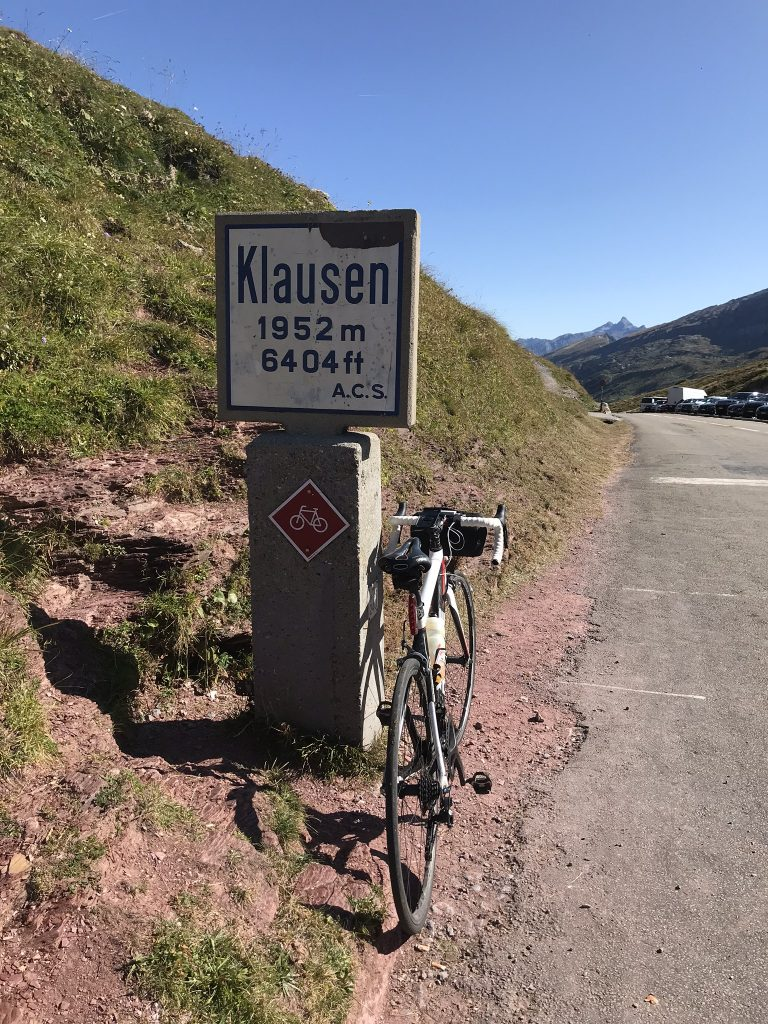 Top of the klausen pass!